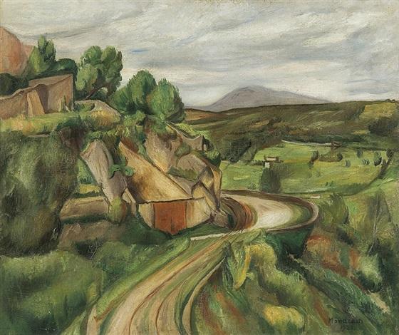 road to vence provence landscape by simon françois stanislas mondzain