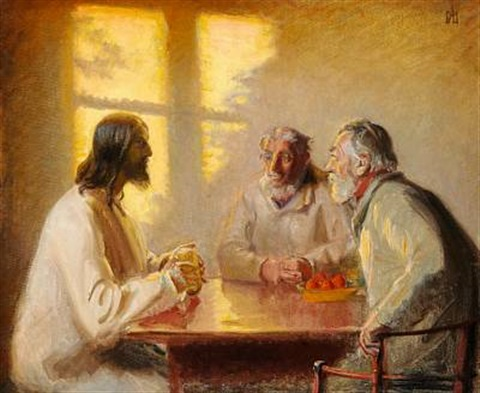 the supper at emmaus by michael peter ancher