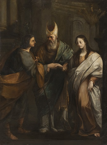 vermählung mariä sposalizio by giovanni francesco romanelli