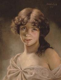 portrait of a girl by josef lieck