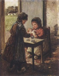 teatime by karel alexander august jan boom