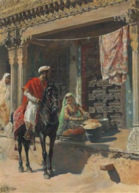 street vendor, ahmedabad by edwin lord weeks