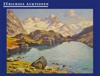 bergsee bei piz bernina by karl simon