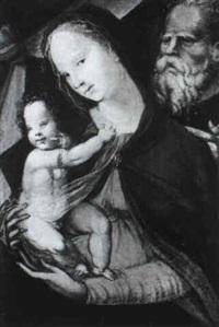 sacra famiglia by girolamo del pacchia