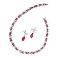 a necklace and pendant-earclips (set of 2) by paloma picasso