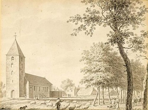 a view of the church of leusden 3 others 4 works by jordanus hoorn