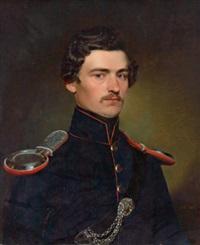 portrait eines jungen herren in uniform by franz eybl