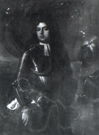 portrait of the hon. thomas arundell in armour by pietro labruzzi