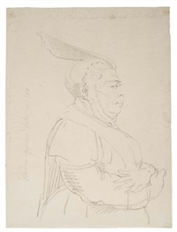 study of a nun in profile to the right by andrea appiani