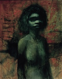 aboriginal girl by alan william baker