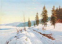 winter landscape by alexander willy dannerfjord