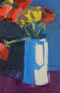 flowers in a vase by brian ballard