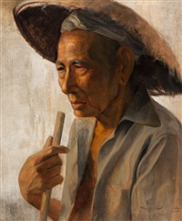 portrait of a man by dullah