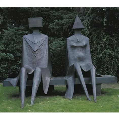 couple on a seat by lynn chadwick