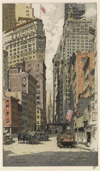 wall street, new york by hans figura