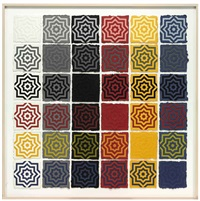 eight pointed stars by sol lewitt