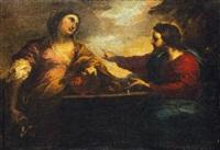 cristo e la samaritana by valerio castello