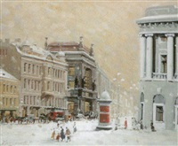 il neige à saint-petersbourg by valery krassouline