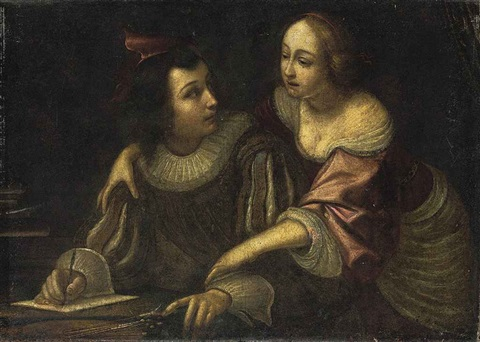 the artist with his muse by cesare dandini