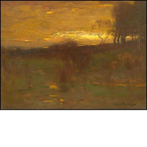 sunset landscape by john francis murphy
