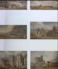 plans and elevations of windsor castle and its buildings by henry ashton