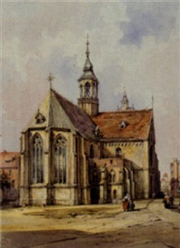 gotische kirche in hildesheim by carl martin laeisz