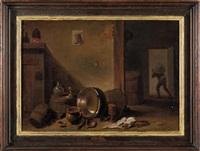 interno di cucina by flemish school