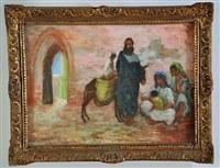 scène de rue marocaine by nicolae gropeanu