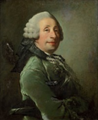 portrait d'homme portant un habit vert by louis richard françois dupont