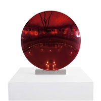 red disc by anish kapoor