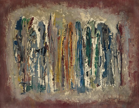 untitled abstract composition by norman lewis