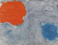 ragged scarlet and ceruleum : october by patrick heron