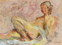 nude on a sofa by henryk gotlib