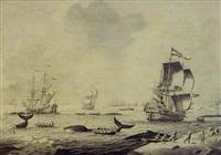 de walvisvaart in de noordelijke ijszee by adriaen van salm