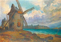 paysage au moulin, saint malo by georges gobo