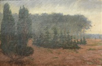 summer landscape (probably brown county indiana) by theodore clement steele
