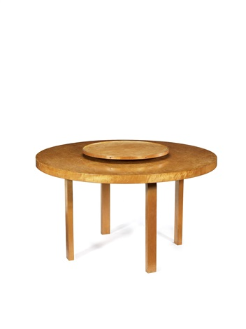 table 91 with lazy susan by alvar aalto