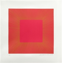 summer suite (red with gold i) by richard anuszkiewicz