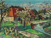la ferme au bord de la rivière by franck innocent