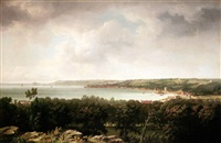 view of st. peter port, guernsey by john young