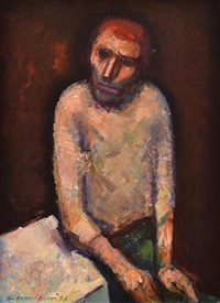 figure seated by a table by noel jack counihan