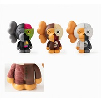 miro (white,black,brown) by kaws