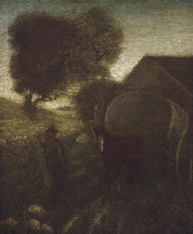 the farmyard by albert pinkham ryder