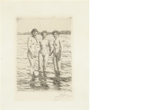 three graces by anders zorn