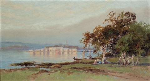 sydney harbour by william charles piguenit