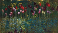 tulips, forgetmenots by patrick william adam