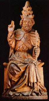 heiliger petrus auf einem thron sitzend by austrian school-vienna (15)