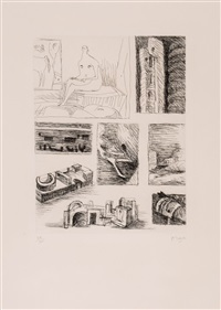 ideas for sculpture (c.103) by henry moore
