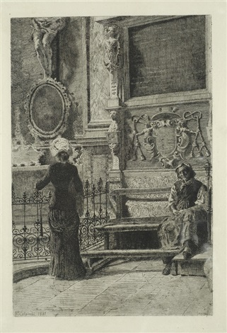 donne in chiesa by francesco colombi
