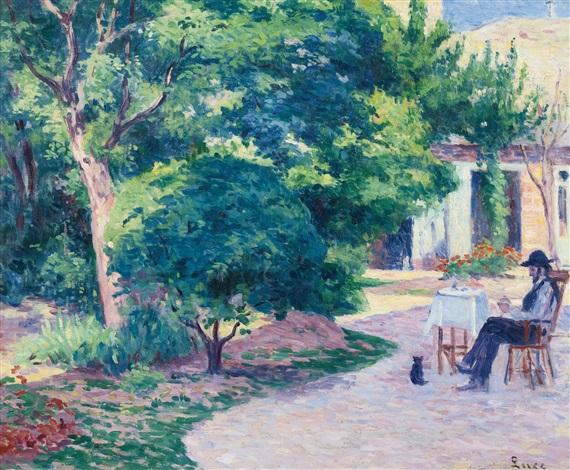 paris le jardin dalexandre charpentier au hameau boileau by maximilien luce